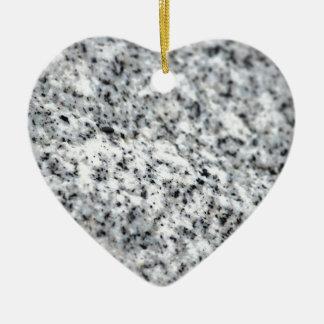Roca blanco y negro del granito ornamento de navidad