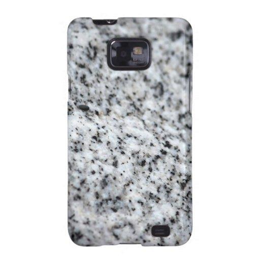 Roca blanco y negro del granito samsung galaxy SII fundas