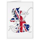 ¡Roca británica de los chicas! Tarjetas