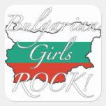 ¡Roca búlgara de los chicas! Calcomanías Cuadradass