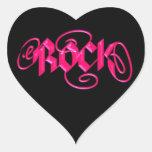 Roca Calcomanía De Corazón Personalizadas