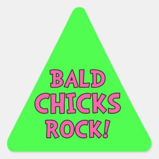 Roca calva de los polluelos - conciencia del pegatina triangular
