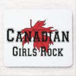 Roca canadiense de los chicas alfombrilla de raton