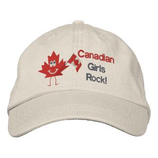 Roca canadiense de los chicas gorros bordados