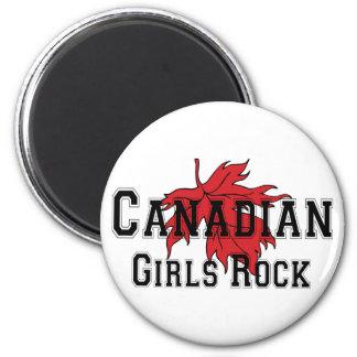 Roca canadiense de los chicas iman de frigorífico