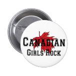 Roca canadiense de los chicas pin