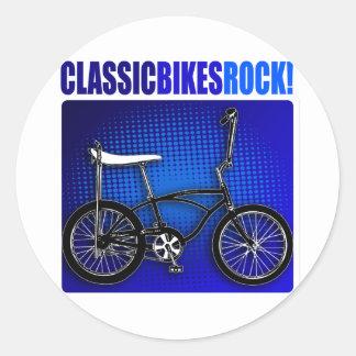 ¡Roca clásica de las bicis! Pegatinas Redondas