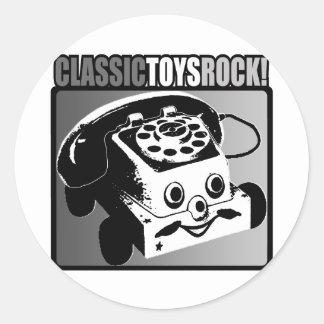 ¡Roca clásica de los juguetes! Etiqueta Redonda