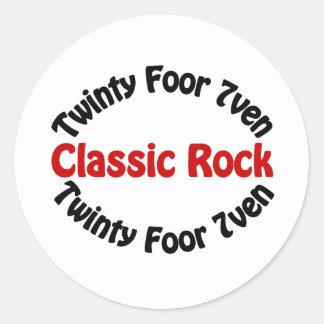 Roca clásica - Twinty Foor 7ven Pegatinas Redondas
