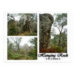 Roca colgante, postal de Victoria, Australia