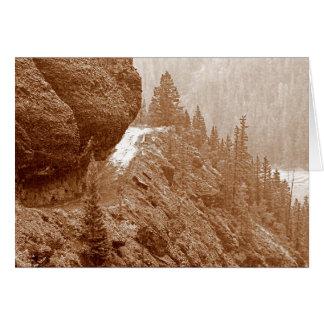Roca colgante tarjeton