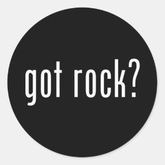 ¿Roca conseguida? Música del rock-and-roll Pegatina Redonda