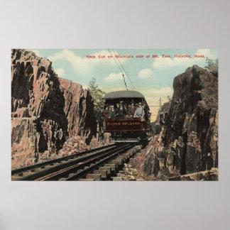 Roca cortada en Mt. Tom Poster