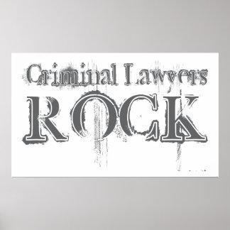Roca criminal de los abogados posters