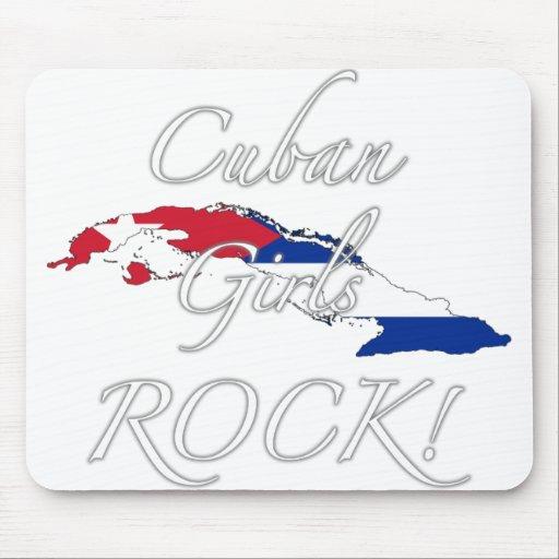 ¡Roca cubana de los chicas! Alfombrillas De Raton