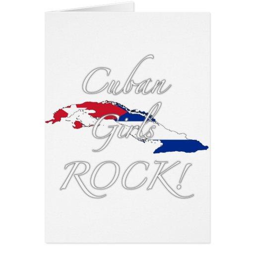¡Roca cubana de los chicas! Tarjetón