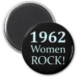 Roca de 1962 mujeres, 50.o cumpleaños iman de frigorífico