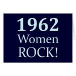 Roca de 1962 mujeres, 50.o cumpleaños tarjetas