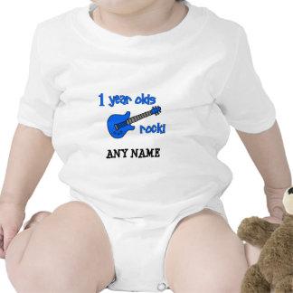 ¡roca de 1 año! El 1r cumpleaños del bebé personal Traje De Bebé