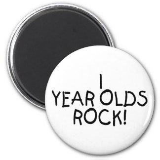 Roca de 1 año imán redondo 5 cm