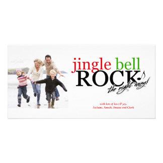 Roca de 311 Jingle Bell la noche lejos Tarjetas Fotograficas Personalizadas