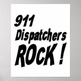 ¡Roca de 911 despachadores Impresión del poster