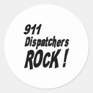 ¡Roca de 911 despachadores! Pegatina