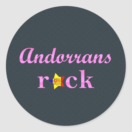 Roca de andorranos - rosa lindo etiqueta
