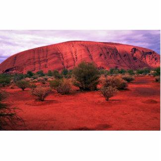 Roca de Ayers, parque nacional de Uluru, desierto Fotoescultura Vertical
