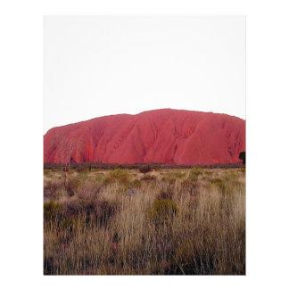 Roca de Ayres de la roca Membrete Personalizado