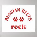 Roca de azules rusa impresiones