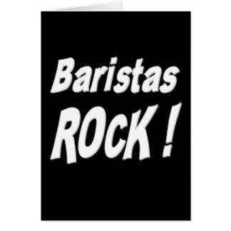 ¡Roca de Baristas! Tarjeta de felicitación
