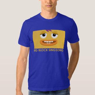 Roca de BBSS y la camiseta de los hombres del Playera