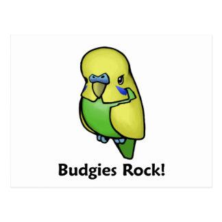 ¡Roca de Budgies! Tarjeta Postal