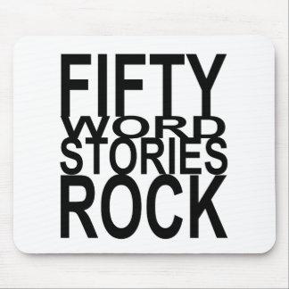 Roca de cincuenta historias de la palabra alfombrillas de ratón