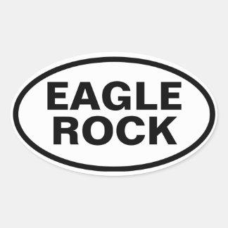 Roca de CUATRO Eagle Pegatina Ovalada