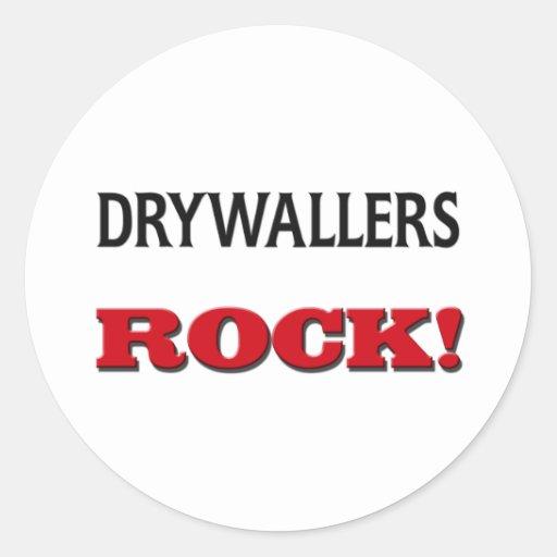 Roca de Drywallers Pegatina Redonda