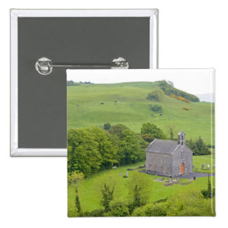 Roca de Dunamase, Irlanda. Vistas a y alrededor Pin Cuadrada 5 Cm
