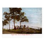 Roca de Eagle, top de la montaña anaranjada, NJ Vi Tarjeta Postal