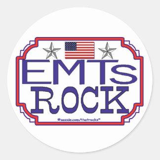 Roca de EMTs Etiqueta Redonda