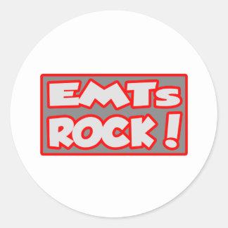 ¡Roca de EMTs Pegatina Redonda