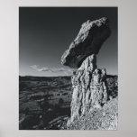 Roca de equilibrio, New México Póster