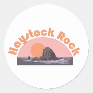 Roca de Haystock Pegatina Redonda