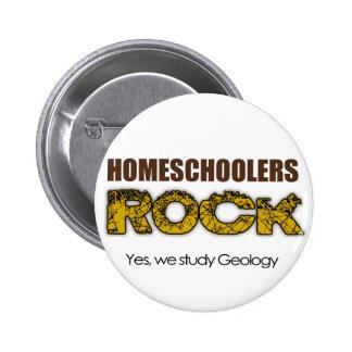 Roca de Homeschoolers Pin Redondo De 2 Pulgadas