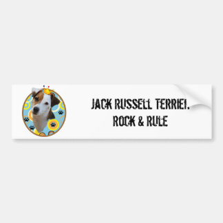Roca de Jack Russell Terrier y pegatina para el Pegatina Para Auto