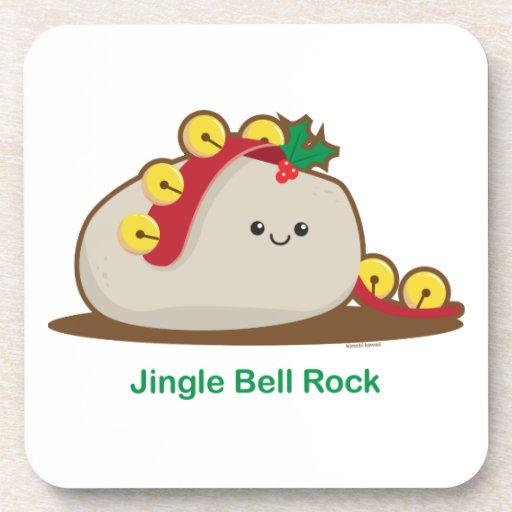 Roca de Jingle Bell Posavasos De Bebidas