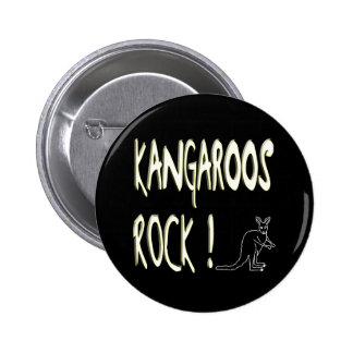 ¡Roca de KangaROOS! Botón Pin Redondo De 2 Pulgadas