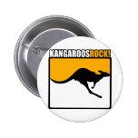 ¡Roca de KangaROOS! Pin Redondo 5 Cm
