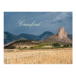 Roca de la aguja en Crawford, Colorado Tarjeta Postal
