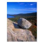 Roca de la burbuja del Acadia Tarjetas Postales